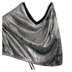 Glitter Holographic Crop Top